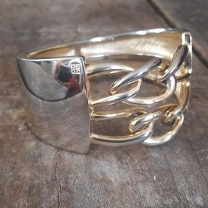 Vintage Givenchy Gold Bangle with Logo